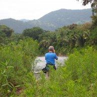 Stephen McCormick going birding in the Bladen Nature Reserve in Belize