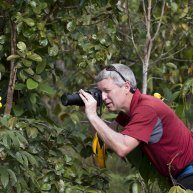Steve McCormick taking photographs in Belize