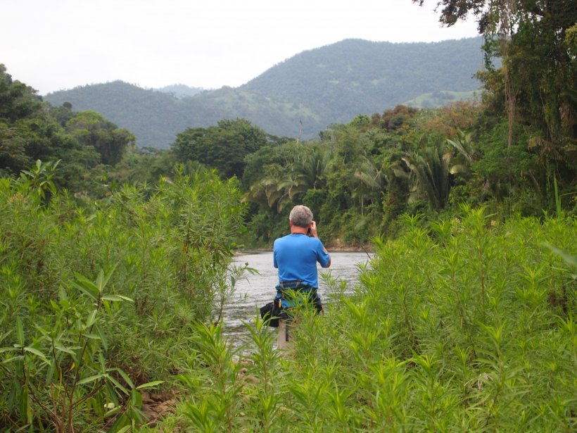Stephen McCormick going birding in the Bladen Nature Reserve in Belize
