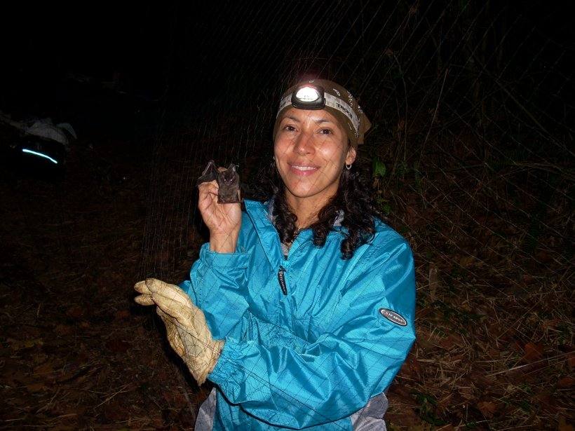 Sharlene Santana with bat