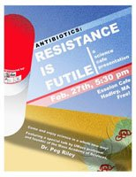 Picture of Antibiotic Resistance Science Cafe Poster