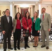 photo of Public Engagement Project fellows at the State House