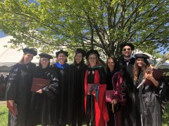 photo of MCB students and faculty at Commencement