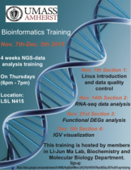 Bioinformatics Training Schedule